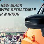New Black Power Retractable Door Mirror